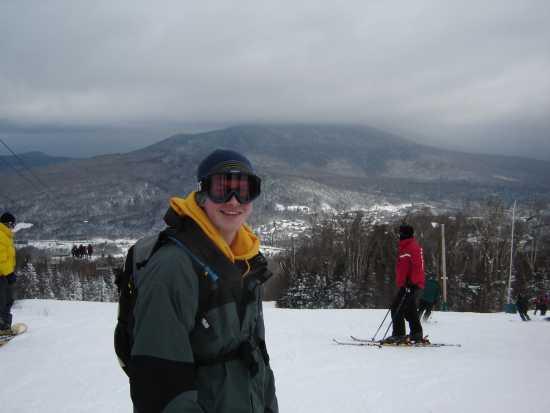 The mountain was beautiful
